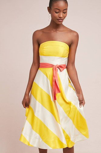 Dress Maeve Dress Sunshine Yellow Maeve Maeve Striped Striped Sunshine Yellow HZWwIXOq6
