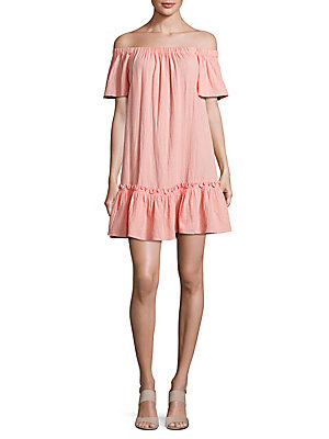 Taylor Malibu Relaxed Shoulder Off Rebecca Dress Peach The RWFdqwR7