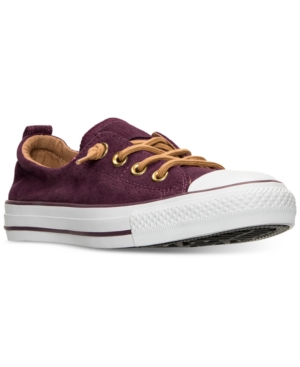 Chuck Casual Sugar Finish Line Sangria From Women's Dark Converse Taylor Suede Perf Wh Shoreline Sneakers Raw YRvHw