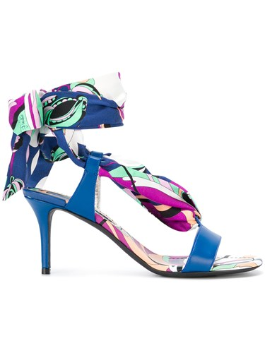 Emilio Blue Pucci Aruba Print Tie Sandals Up FfpFw