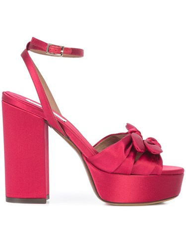 Red Simmons Detail Sandals Tabitha Acetate Bow UgZHvA6