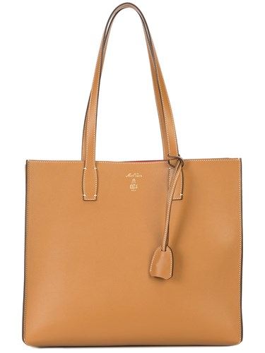 Bag Tote Brown Cross Structured Mark xUptHt