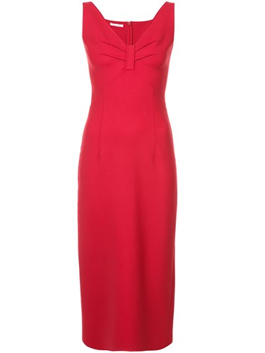 Oscar Renta de Red V la Dress Neck qECrEw