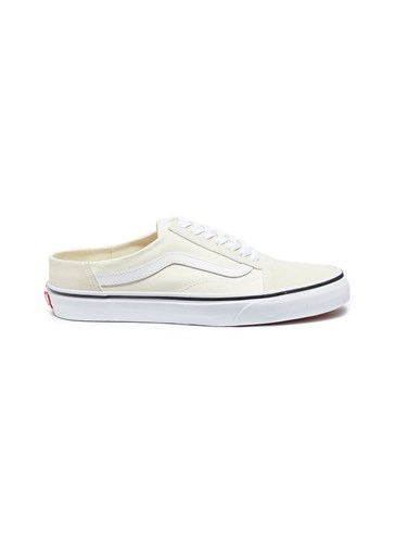 Vans 'Old Skool' Canvas Mules White A68uPng7