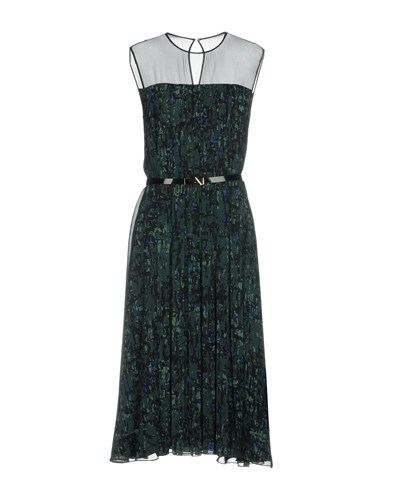Knee Dresses Jason Length Wu Green Dark Fa5wY6q5