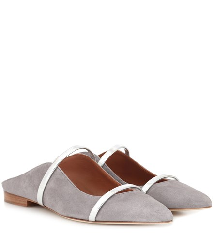Malone Souliers Maureen Suede Slippers Grey e4kq9y