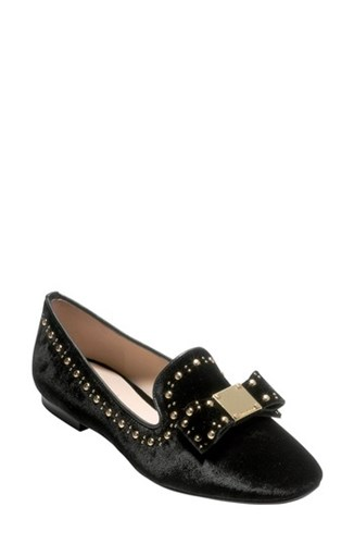 Tali Velvet Haan Bow Loafer Women's Cole Black OcAwzEYgWq