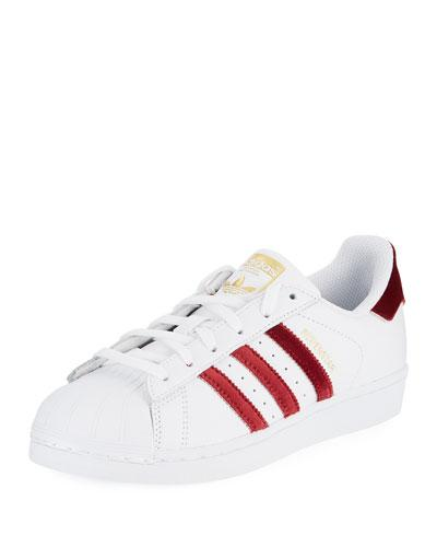 Velour Red Sneaker Original Stripe Fashion adidas Superstar qwpfgg