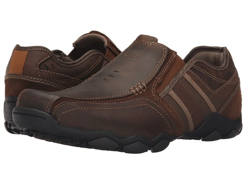 Leather Fit Diameter Classic Brown Shoes Men's Zinroy Skechers Dark POH7wCxCq