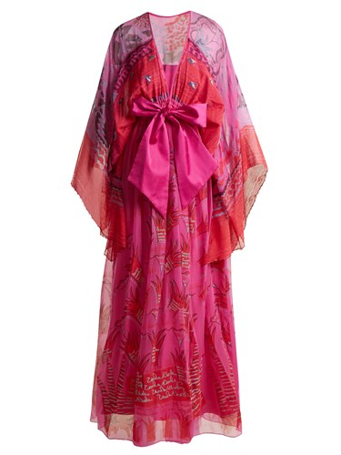 ZANDRA RHODES ARCHIVE The 1973 Field Of Lilies Gown Pink pZyIf