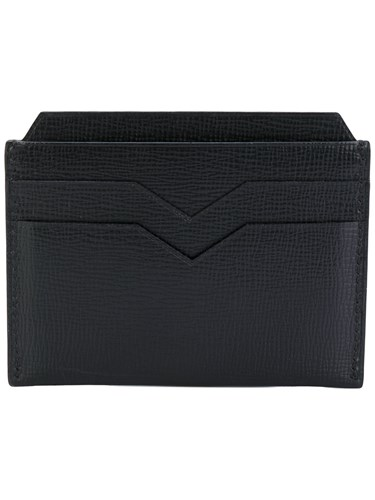 Cardholder Calf Geometric Valextra Black Leather O5F6q