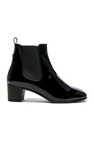 Acne Studios Patent Leather Hely Boots In Black B0n22G0Fw
