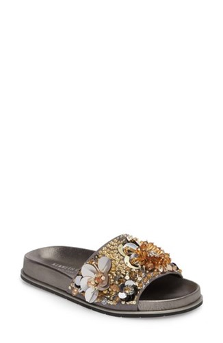 Sequin New Cole Kenneth Silver Sequins Gold Xenia York 'S Embellished Sandal FqXqfOxHwE