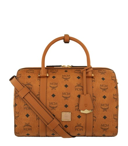 Bag Boston Medium Signature MCM Brown Visetos afw1qAnB