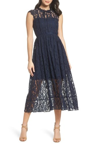 Navy Dress Sapphire Chelsea28 Midi 28 Lace 'S Chelsea SyqcT4FS