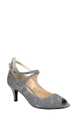 J Toe Rolyne Renee Grey Peep Women's Pump rw6rC8q