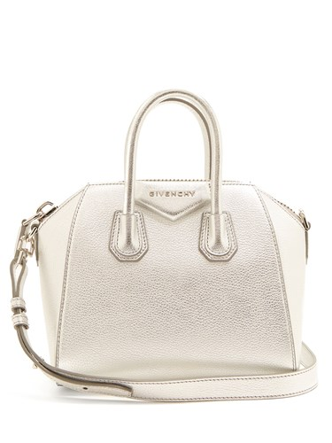 Givenchy Silver Cross Body Bag Antigona Leather Mini Cx0wq840g