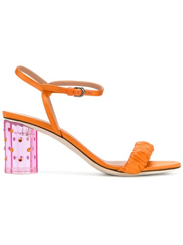 Yellow Sandals Perspex De Orange Vincenzo Marco And Heel 8IqxXO