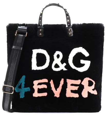 Shopper Black Gabbana Fur Dolce amp; Beatrice wOv4gz