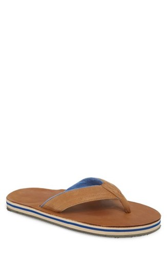 Leather Sandwich mari Flip Stripe Navy hari Flop Tan Lakes OTHqwW48