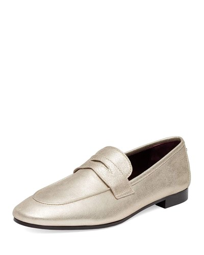 Bougeotte Metallic Loafer On Penny Silver Slip pCZRCq