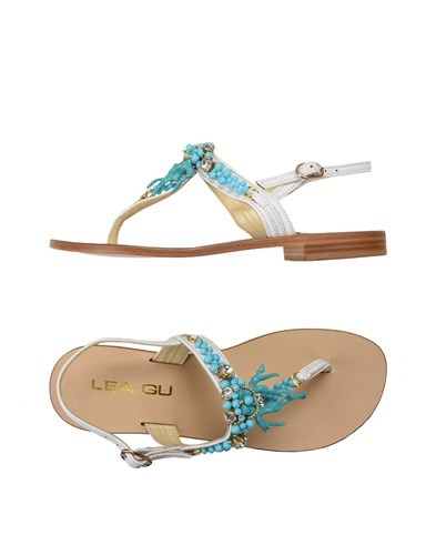LEA Strap White GU Sandals Toe AqAfxwP