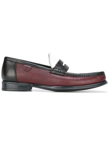 Dolce & Gabbana Brushed Leather Loafers Red MO0Ie
