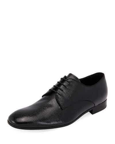Textured Shoe Vernice Olona Armani Black Giorgio Leather Oxford 68xtS