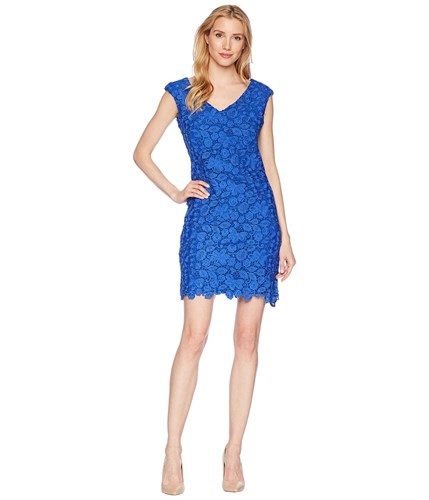 Lauren Blue Ralph Deep Lapis Floral Lauren Montie Dress Heiress TUwFqxSO