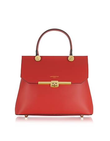 Le Top Parmentier Red Handle Atlanta Satchel Bag qrTgqw