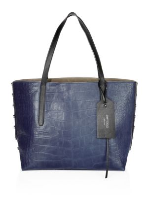 Tote Choo West Jimmy Croc Navy East Twist Leather Embossed Ozqxnv0