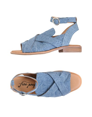 Free Free People People Sandals Blue Sandals aqEqHw4