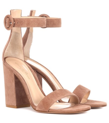 Gianvito Rossi Versilia 100 Suede Sandals Brown 50AAwUb