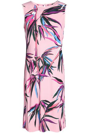 Stretch Pucci Printed Jersey Dress Emilio Pink w1TqE