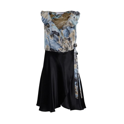 Are Renee Black And In Blue Silk Black Blue Red Dress Floral Roses aq4nOdxPwd