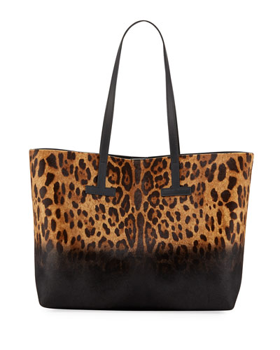 Tote Leopard Black Hair Calf T Ford Bag Print Tom Pattern YwSHAY