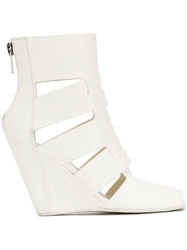 Rick Owens Wedge Sandals Calf Leather Leather Rubber White xS51Fv