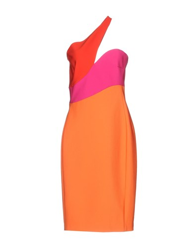 Orange Mugler Dresses Thierry Length Knee qTwKUFfaF