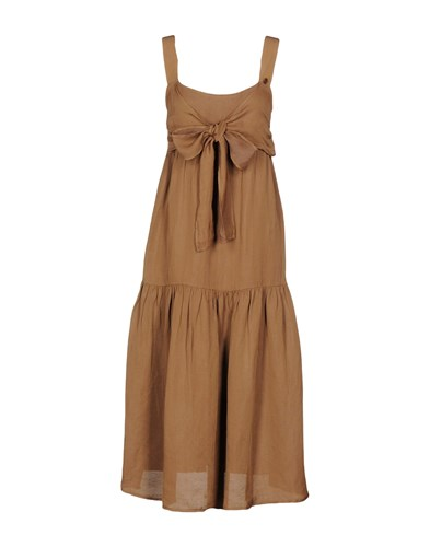 Twin-Set Simona Barbieri 3 4 Length Dresses Cocoa k3n5U0OBE