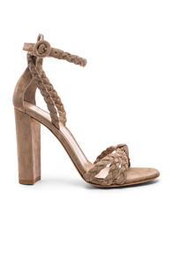 Gianvito Rossi For Fwrd Braided Suede Camoscio Strap Heels In Neutrals KHuAqM0p