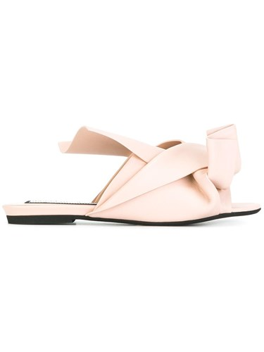 N°21 Knot And Neutrals Tie No21 Nude Sandals 066qwUazxn