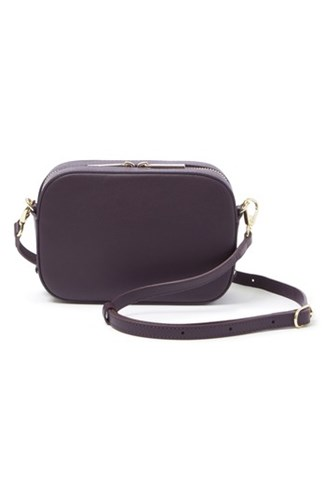 Purple Leather Personalized Camera amp; Plum Bag White Pop Suki Z1PnOxY