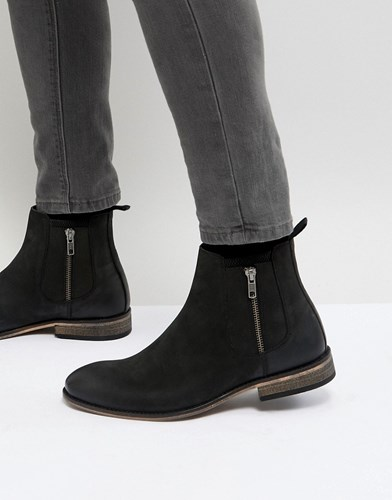 Boots Sole Natural Black With Suede In Chelsea Asos 0Yvgwfq5n