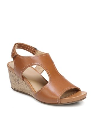 Black Sandals Naturalizer Leather Wedge Cinda ZwAqxYCg