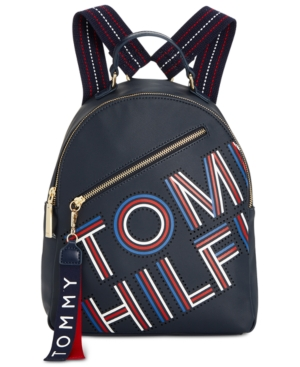 Coated Navy Hilfiger Twill Tommy Small Adari Backpack AwEfTp