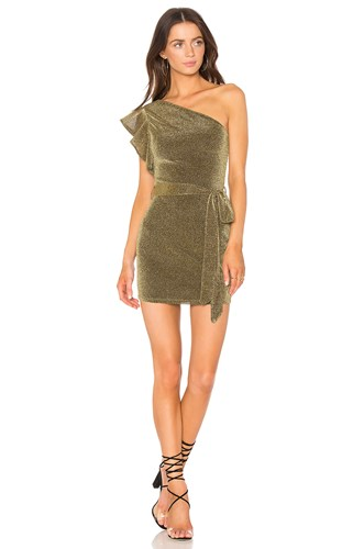 Revolve Metallic NBD Addison X Gold Dress q6qAznx5
