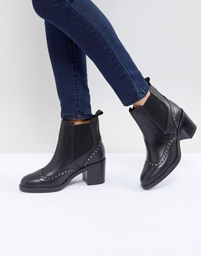 Leather Boots Black Stop Ankle Carvela Studded C8qI15Onw