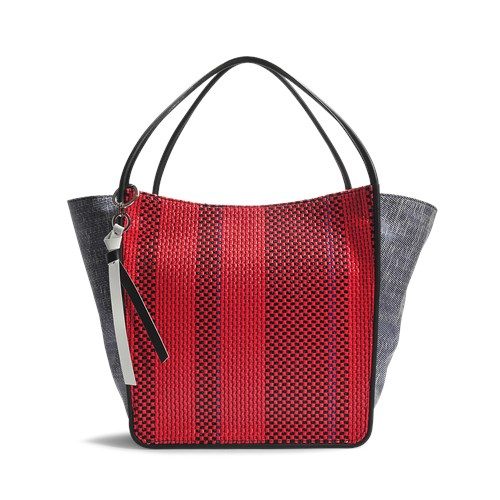 Schouler Mixed Tote Red Large And Extra Woven Proenza In Blue dSwqvd8
