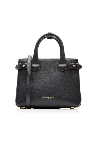 Burberry Baby Banner Leather Tote Black Y8jGP