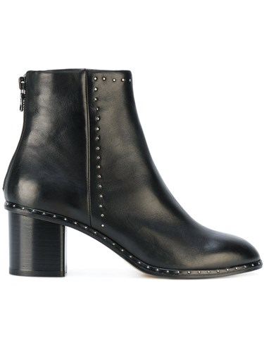 Rag and Side Black Zipped Ankle Leather Bone Boots HzqHwpg